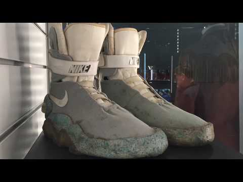 Props Store auction display Back to the Future Nike Mag at Odeon BFI IMAX Cinema London 2017