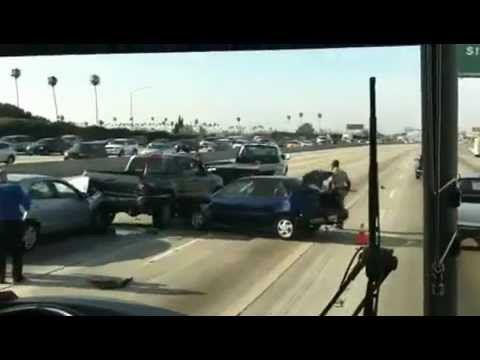 Car accident on fwy 110