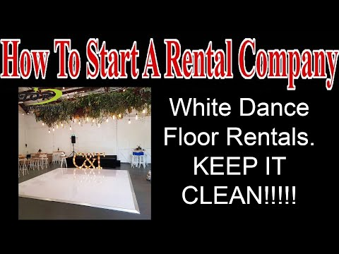 White Dance Floor Rentals - Start A Party Rental Company