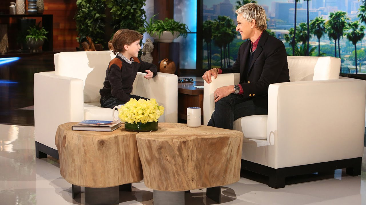 Jacob Tremblay Joins Ellen for the First Time - YouTube