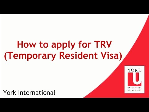 How to apply for TRV (Temporary Resident Visa)