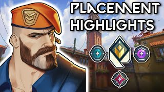 VALORANT PLACEMENT MATCHES HIGHĻIGHTS (SOLO QUEUE)