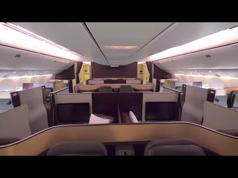First in Business with Qatar Airways to Auckland, New Zealand
