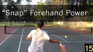 How Small Players Snap the Forehand