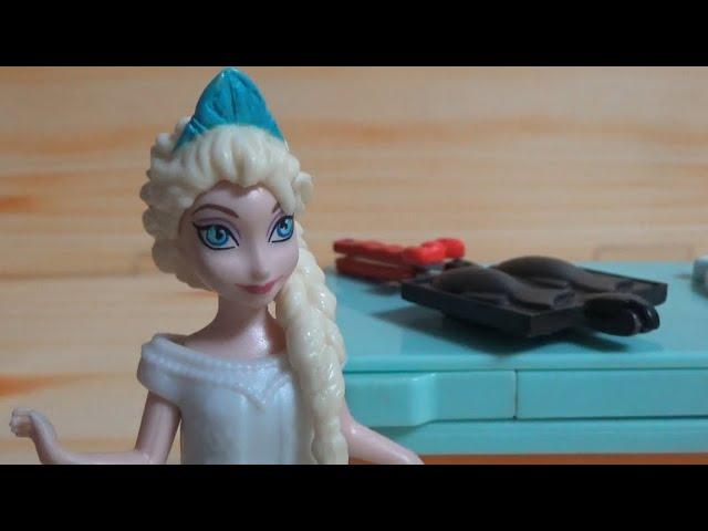 붕어빵을 만드는 겨울왕국 엘사 Frozen Elsa Making Taiyaki Bread