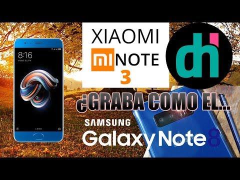 XIAOMI Mi Note 3 vs SAMSUNG Galaxy Note 8  Modos de Grabación FULL HD y 4K