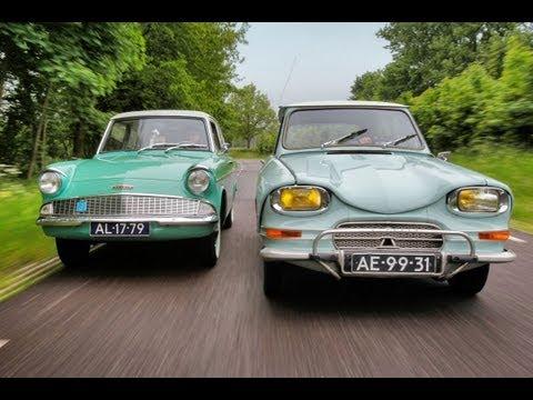 Classics - Citroën Ami 6 vs. Ford Anglia 105E
