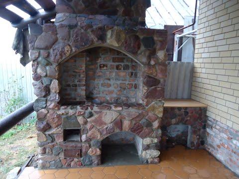 Как сделать печь барбекю из камня на террасе