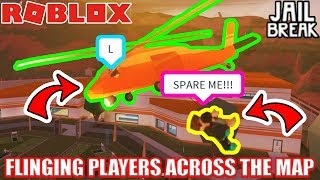 FLINGING PEOPLE Across the MAP | Roblox Jailbreak ft. NubNeb