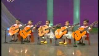 "[Guitar] Cha Sun Chong et al. - ""Our Kindergarten Teacher"" {DPRK Music}"