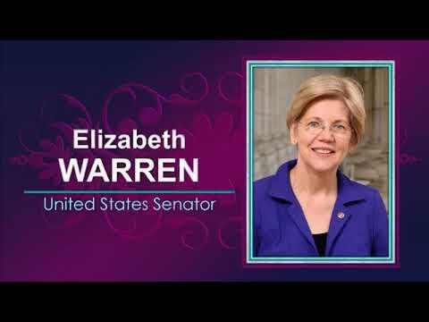 Elizabeth Warren speaking at National Women's Law Center's 45th Anniversary Gala.