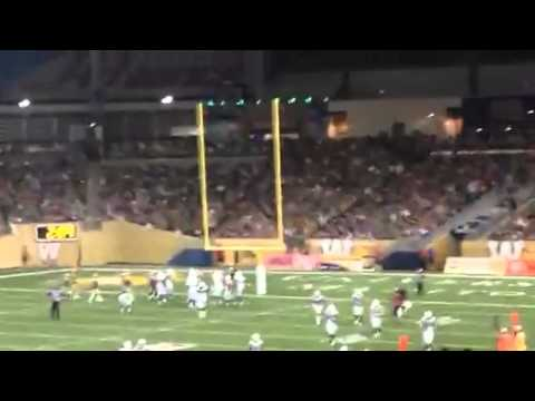 Wife of football player goes crazy in the football stands
