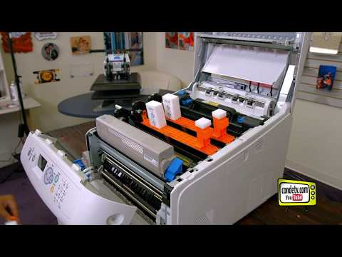 Oki Pro 8432WT Printer - Setup and Driver Install - Video #2 of 4