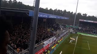 Dynamo Dresden Fans hüpfen in Sandhausen