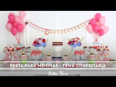 Ideia para decorar festa infantil para meninas! Uma novidade Bella Fiore com Regina Festas