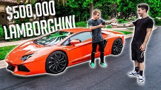 SURPRISING MY ROOMMATE WITH HIS DREAM CAR! (LAMBORGHINI AVENTADOR)