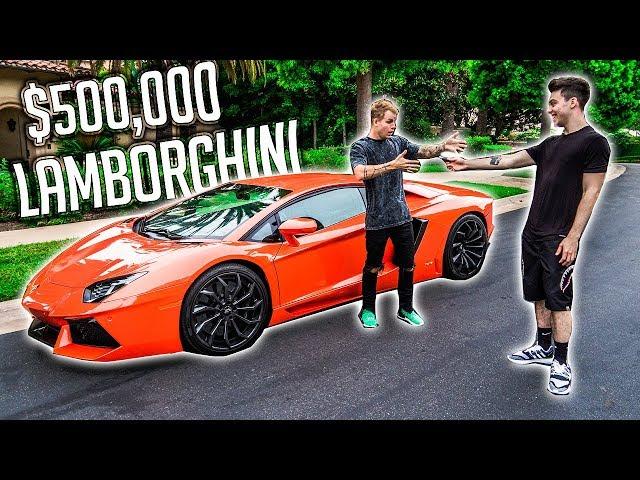 SURPRISING MY ROOMMATE WITH HIS DREAM CAR! (LAMBORGHINI AVENTADOR)