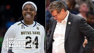 Notre Dame defeats UConn once again in the Women's Final Four | NCAA Tournament Highlights