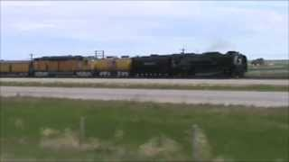 Union Pacific 844 From Cheyenne, WY to Pine Bluffs, WY Part 1