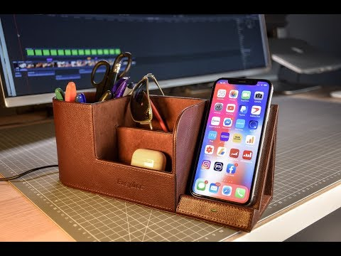 Super Affordable Wireless Charger with Desk Organiser