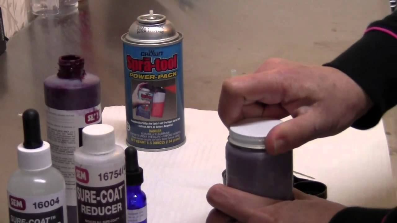 how to use leather spray kit youtube. Black Bedroom Furniture Sets. Home Design Ideas