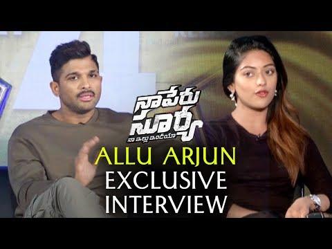 Allu Arjun Exclusive Interview | Na Peru Surya Team Exclusive Interview | Allu Arjun, Anu Emmanuel