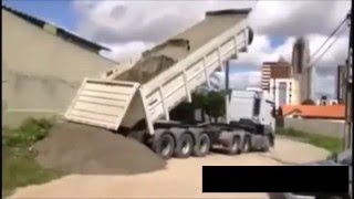Trucks Tipping Over Compilation