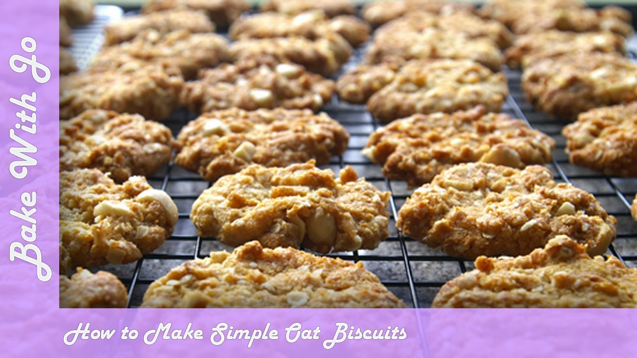 How to make Simple Oat Biscuits | Bake with Jo - YouTube