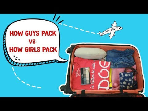 Guys Vs Girls: How They Pack For A Weekend | PrintOctopus