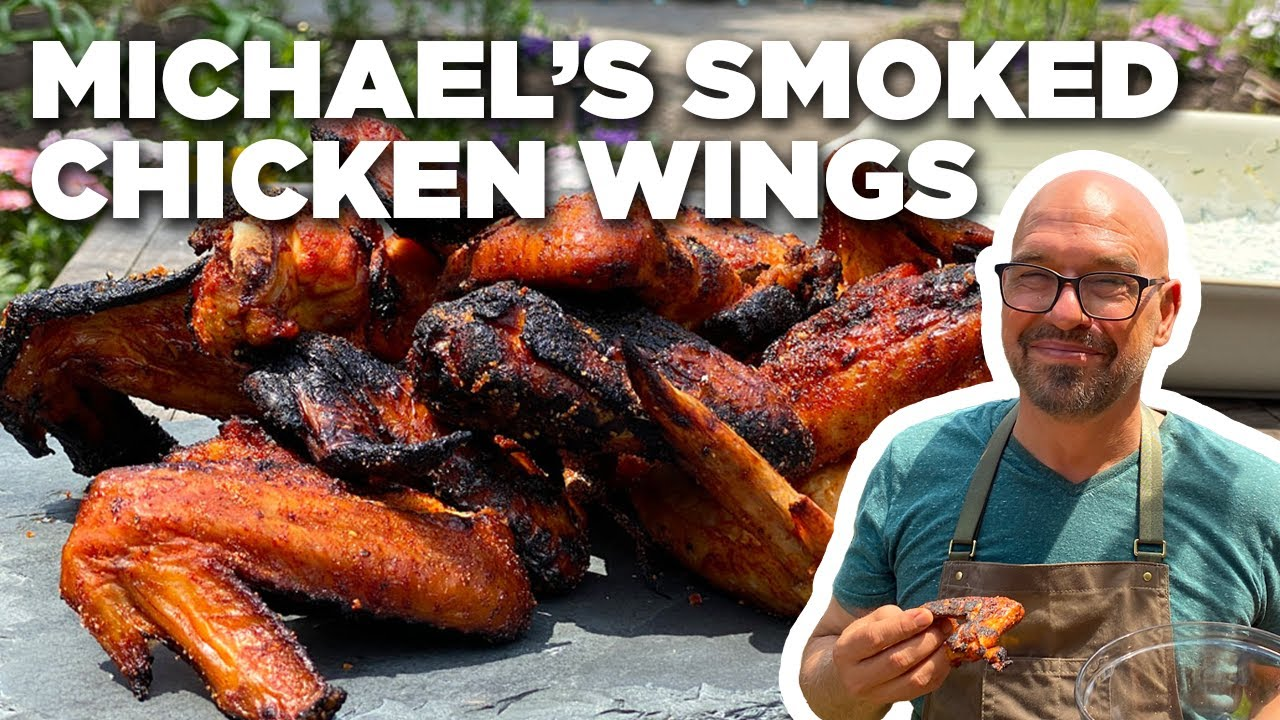 Michael Symon's Smoked Chicken Wings | Symon Dinner's Cooking Out | Food Network