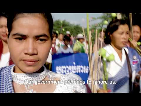 One woman fighting the Cambodian authorities