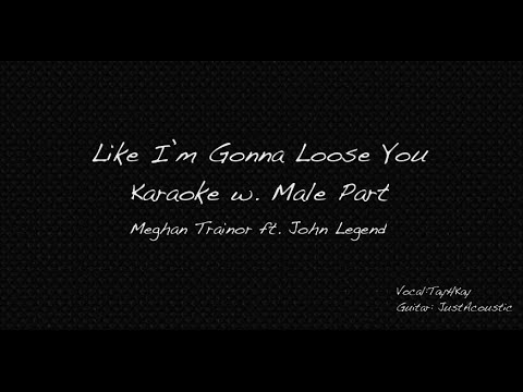 Like I'm Gonna Loose You Karaoke Male Part Only Cover [Meghan Trainor ft. John Legend]