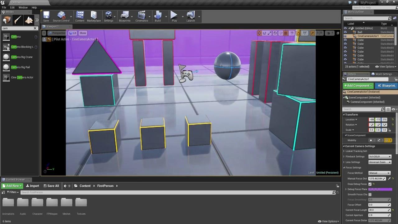 Unreal Engine 4 - Cine Camera
