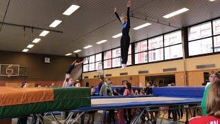 Trampolin turnen Wettkampf, Übung P3 Einzel Wertung 1. Platz und Mannschaft 3.  💗Haley's Turnwelt💗