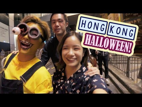 First Day in HONG KONG | CRAZY Halloween Night!!
