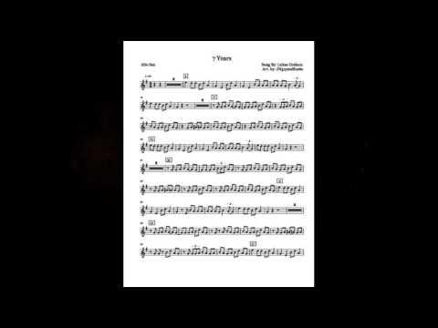 7 Years - Lukas Graham (Saxophone Sheet Music)