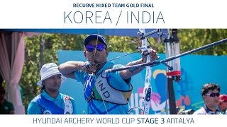 Korea v India – Recขrve Mixed Team Gold Final | Antalya 2016