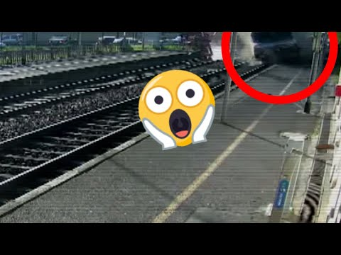 Quand le train rentre DANS la gare !!