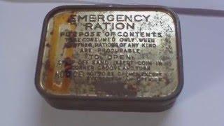 WORLD WAR TWO BRITISH ARMY EMERGENCY RATION CHOCOLATE TIN