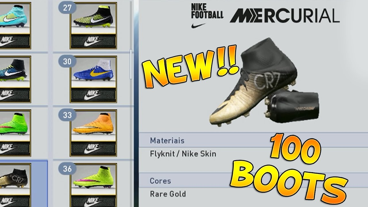 PES 2015 - 100 NEW BOOTS (BOOTPACK)   NOVAS CHUTEIRAS - CR7 EDITION  INCLUDED - YouTube 64435958b0b68