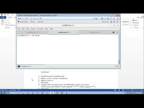 MySQL Database replication master to master in RHEL 7 4