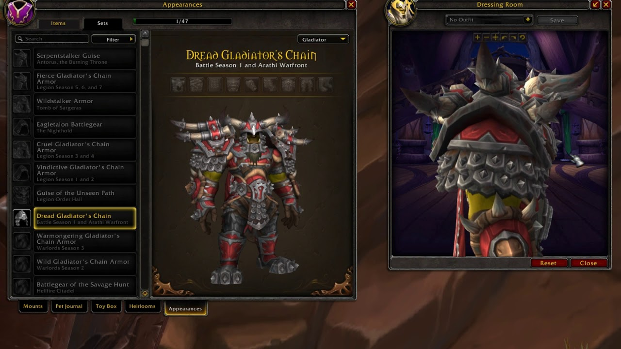 Dread Gladiators Chain Horde Mail Pvp Armor World Of Warcraft