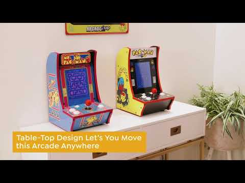 Arcade1Up 2in1 Countercade with Ms. PacMan and Super PacMan Games from HSNtv