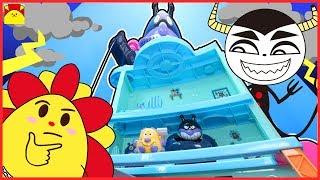 アンパンマン アニメおもちゃ★バイキンじょうハウスでノイズが・・・☆シール貼り パン工場でかくれんぼ miniature animation anpanman thumbnail