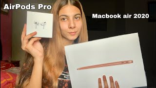 Unboxing the new Macbook air 2020 + Airpods Pro