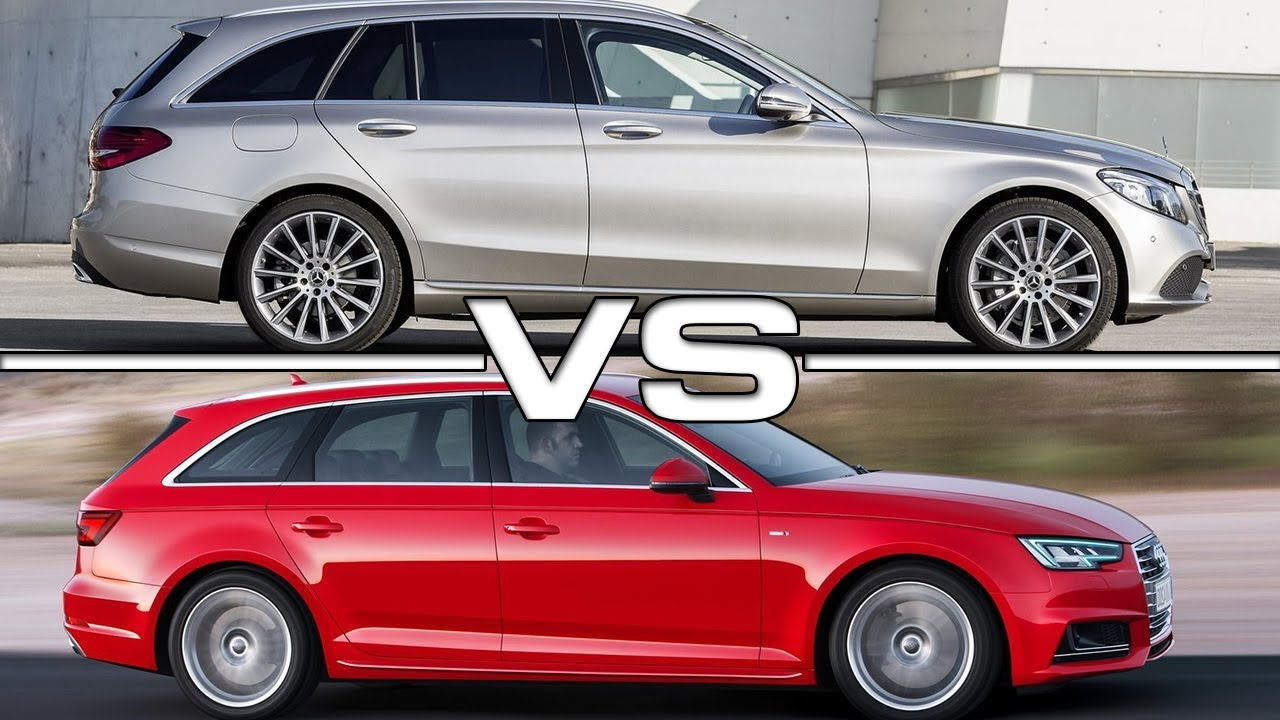 2019 Mercedes C Class Estate Vs 2018 Audi A4 Avant Youtube