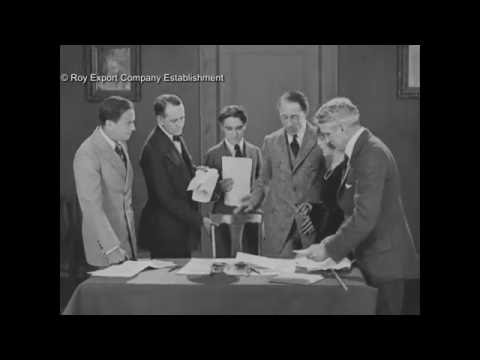 Chaplin, Fairbanks, Pickford & Griffith Signing United Artists Contract - 1919