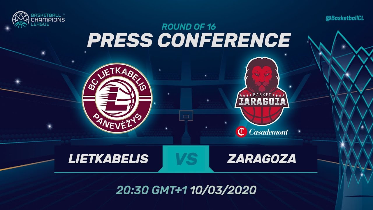 Lietkabelis v Casademont Zaragoza - Press Conf. - Round of 16 - Basketball Champions League 2019