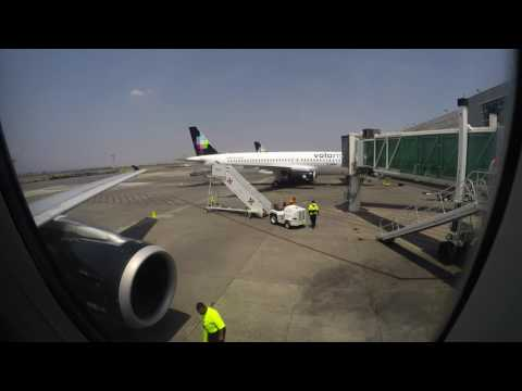 VOI 681 Guadalajara   La Paz Volaris A320 Full Flight Vuelo Completo Pax View