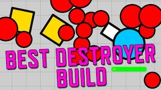 Diep.io! Best Destroyer Build! No Hack or Mod Game Walkthrough